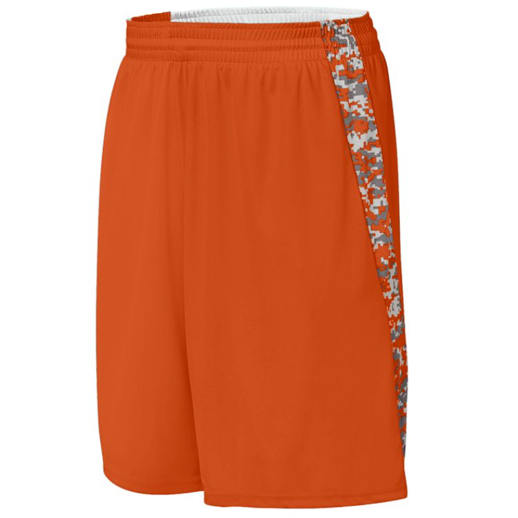 Hook Shot Adult Reversible Short Augusta 1163 Orange bbd794e65