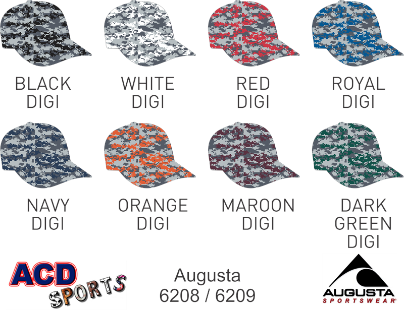 August 6208 Digi Camo Cotton Twill Hat