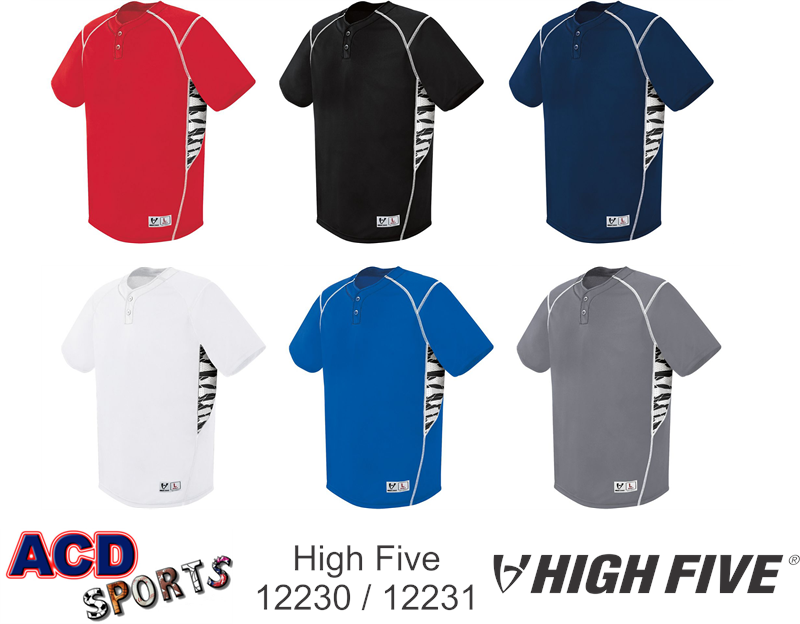 High Five 12230 Bandit Inset Jersey