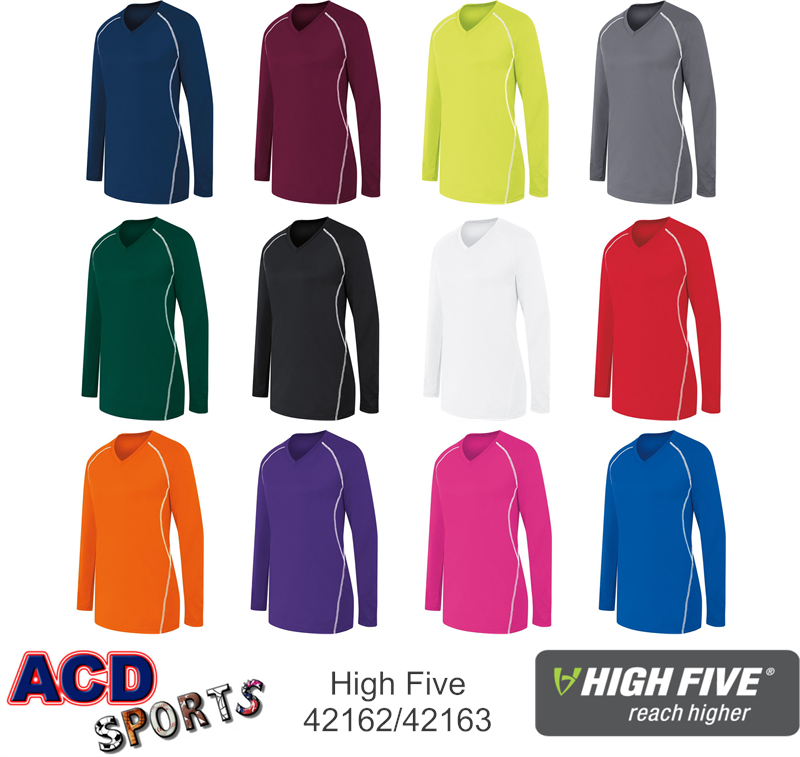 High Five 42162 Long Sleeve Solid Jersey