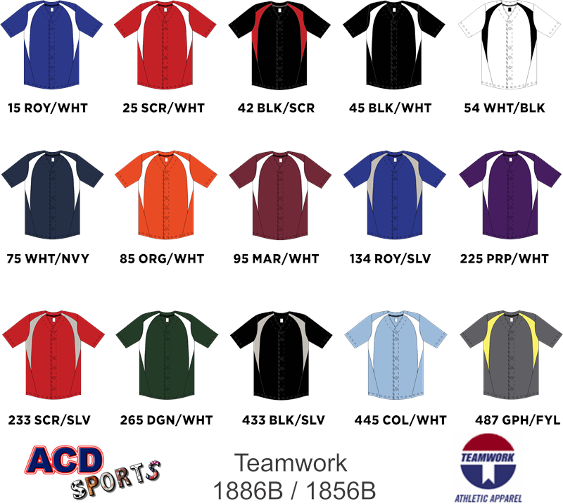 Teamwork 1886B Cutoff Full Button Jersey