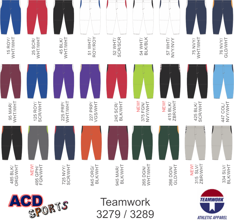 Teamwork 3289 Changeup Softball Pant