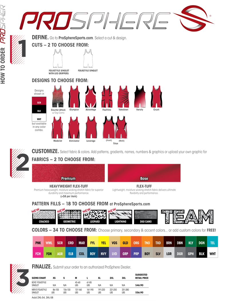 advantage sublimated wrestling singlet teamwork prosphere