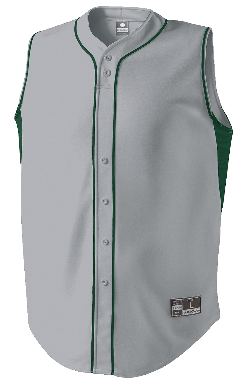 Fierce Adult Full Button Sleeveless Baseball Jersey
