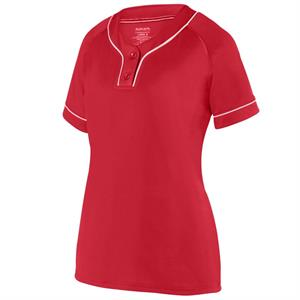 Overpower Ladies Two-Button Jersey Augusta 1670