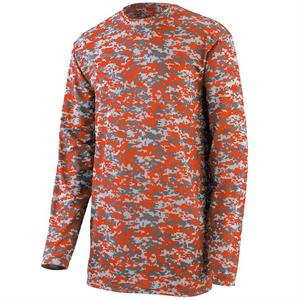 Digi Camo Wicking Long Sleeve Adult T-Shirt Augusta 2788