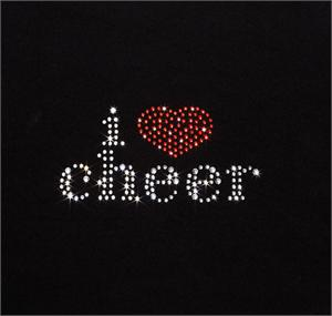 I LOVE CHEER Bling Rhinestone Design by Pizzazz LT100