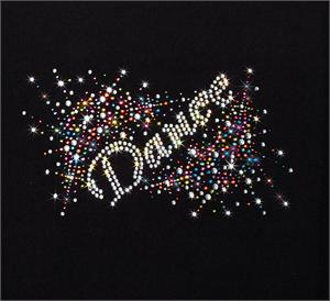"""DANCE"" Explosion Bling Rhinestone Design by Pizzazz LT200"