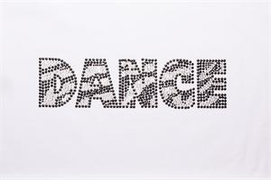 Zebra DANCE Bling with Black Outline
