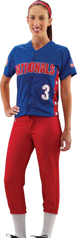 Side Stars Sublimated Softball Jersey Teamwork ProSphere