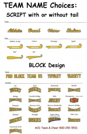 basic lettering for softball baseball basketball and other sports