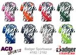 Tie Dri Adult Tee Badger 4182