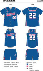 Dagger Sublimated Fastpitch Uniform Alleson Athletic