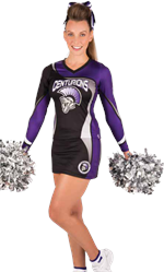 Dazzle Sublimated Cheer Uniform Top & Skirt
