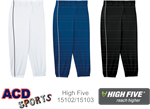 Piped Prostyle Low-Rise Softball Pant High Five 15102