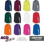 Long Sleeve Womens Solid Jersey High Five 42162