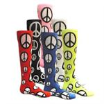 Peace Sign Socks Red Lion 7884