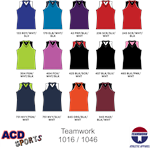 Comebacker Sleevelees V-Neck Jersey Adult Teamwork 1046