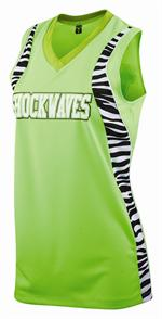 Zebra Sublimated Insert Racerback Jersey Womens Teamwork 1247