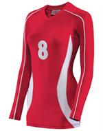 Cobra Womens V-Neck Long Sleeve Volleyball Jersey Teamwork 1979