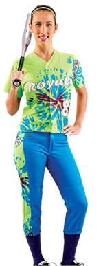 Tie Dye Women's Softball Jersey Teamwork ProSphere