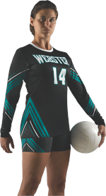 Trend Sublimated Volleyball Jersey Alleson Athletic