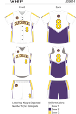 Whip Sublimated Fastpitch Uniform Alleson Athletic