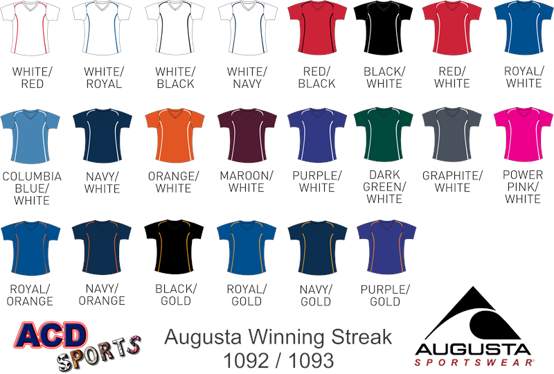 Augusta 1092 Winning Streak Ladies Jersey