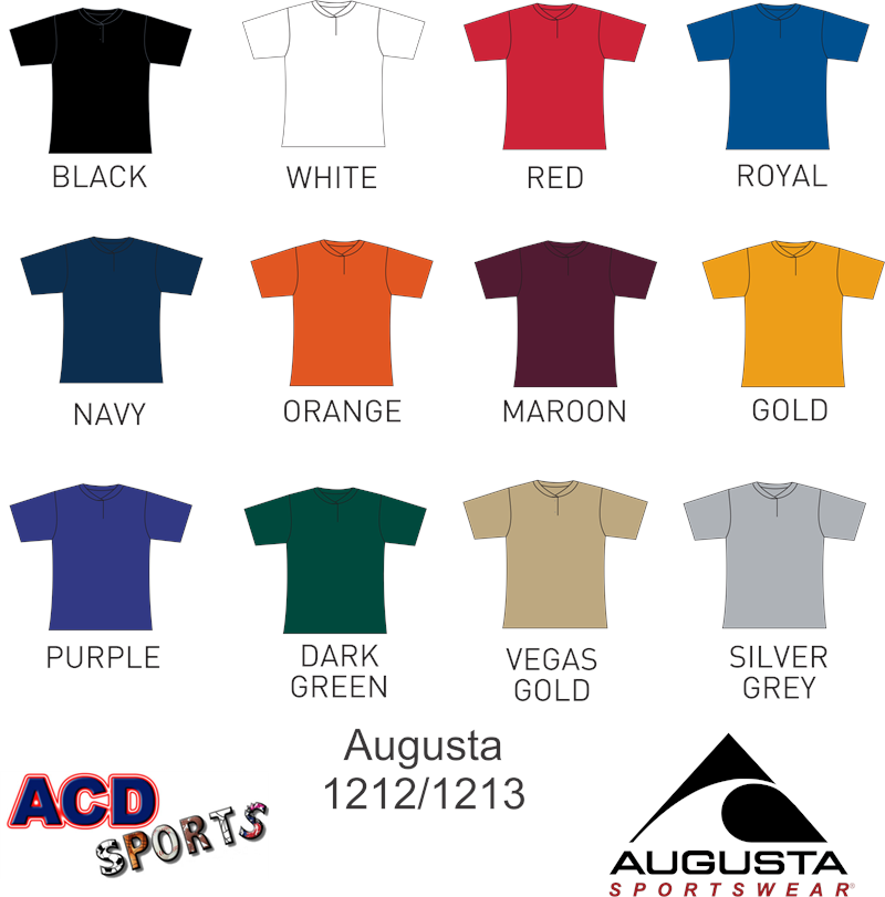 Augusta 1212 Two-Button Jersey