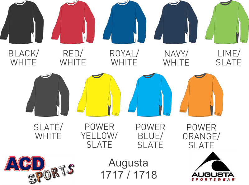 Augusta 1717 Block Out Long Sleeve Jersey