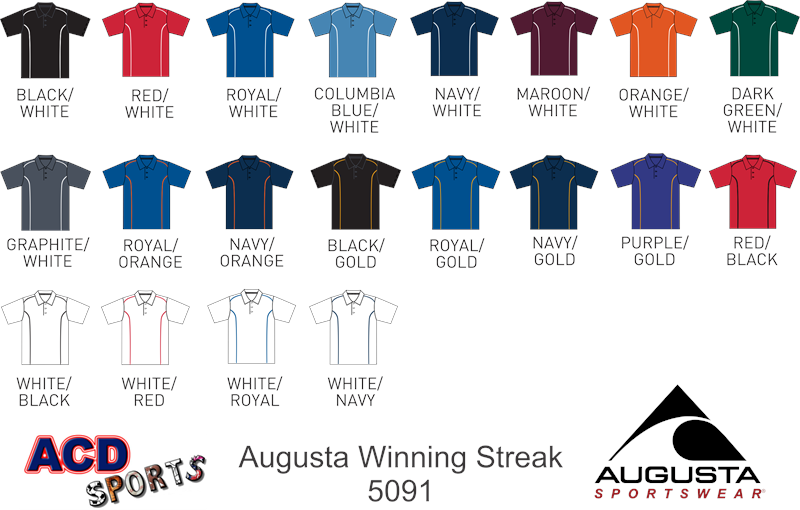 Augusta 5091 Winning Streak Adult Sport Shirt