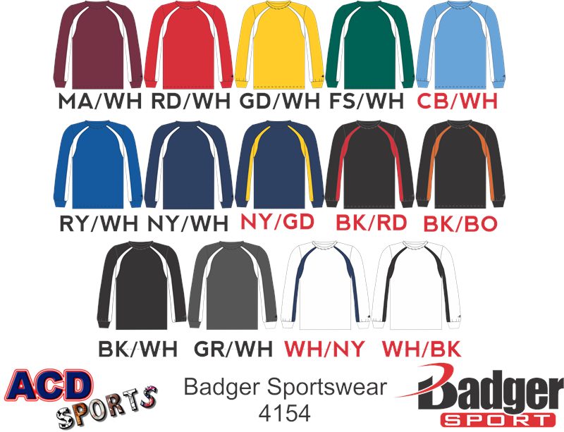 Badger 4154 Hook Long Sleeve Tee