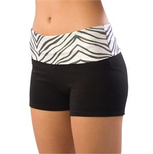 Pizzazz Roll-Down Waist Shorts Adult #2450-ZG Youth #2350-ZG