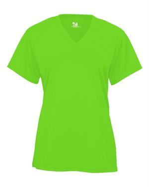 B-Core Ladies V-Neck Tee Badger 4162