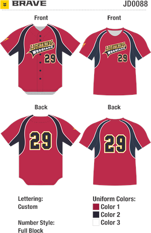 Brave Sublimated Baseball Jersey Alleson Athletic