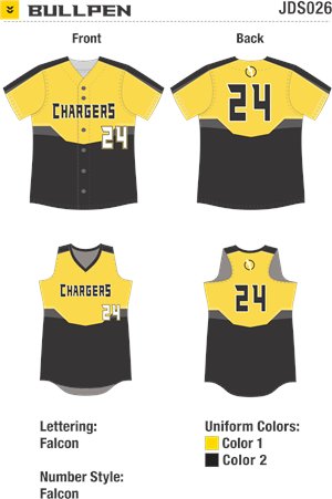 Bullpen Sublimated Fastpitch Uniform Alleson Athletic