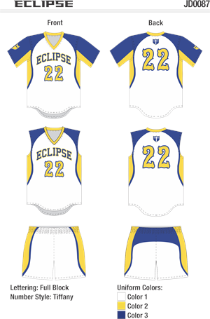Eclipse Sublimated Fastpitch Uniform Alleson Athletic