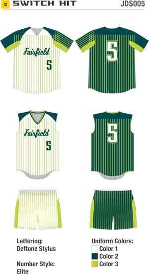 Switch Hit Sublimated Fastpitch Uniform Alleson Athletic