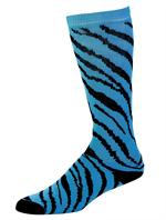 Turquoise Zebra Stripe Knee High Socks by Pizzazz #8090-AP