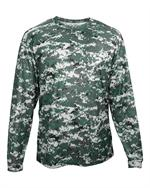 Digital Camo Long Sleeve Tee Badger 4184