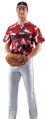 Camo Men's Sublimated Baseball Jersey Teamwork ProSphere