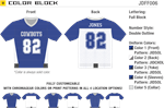 Color Block Flag Football Jersey Alleson Athletic