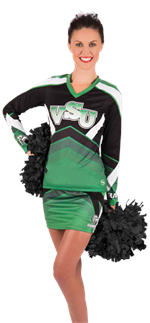 Energize Sublimated Cheer Uniform Top & Skirt