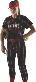 Harper Pinstripe Sublimated Fastpitch Uniform Alleson Athletic