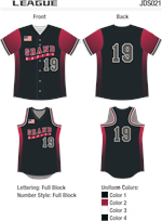 League Sublimated Fastpitch Uniform
