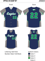 Pickoff Sublimated Fastpitch Uniform