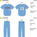 Harper Sublimated Pinstripe Baseball Jersey Alleson Athletic
