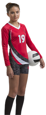Quick Set Custom Teamwork ProSphere Volleyball Jersey Preview Product on Storefront