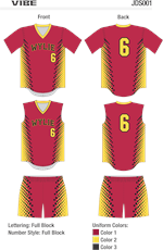 Vibe Sublimated Fastpitch Uniform Alleson Athletic